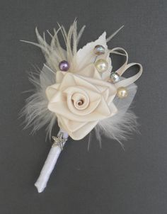 ELEGANCE  boutonniere can be made in any colour by ericacavanagh, $14.00
