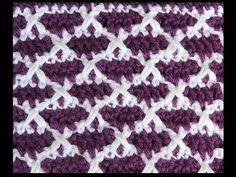 Crochet : Punto Dos Colores # 4 - YouTube