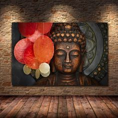 Bronze Vivid Buddha Face Wall Art Poster And Print On Canvas Painting Wall Pictures For Living Room Temple Office Decoration Buddha Wall Art, Buddha Painting, Buddha Decor, Canvas Wall Art, Canvas Prints, Art Prints, Big Canvas Art, 3d Painting On Canvas, 3 Piece Canvas Art