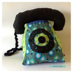 Téléphone vintage en tissu : Jeux, jouets par lily-ciboulette