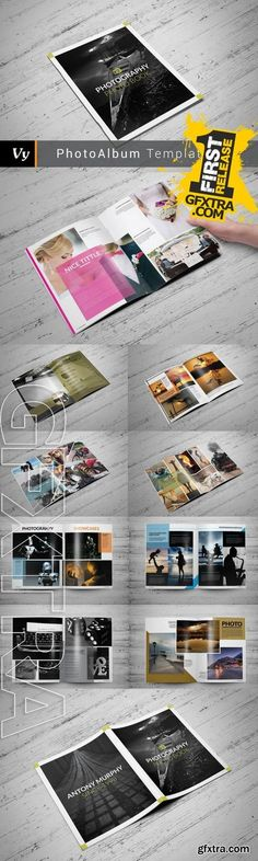 Clean Photo Album Template - CM 280630