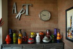 """My colorful vases on an old metal """"french classifier"""" by J'adore Lava Fat, via Flickr"""