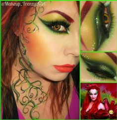 Ivy Poison Ivy Nails, Poison Ivy Makeup, Adult Halloween, Halloween 2016, Diy Halloween Costumes, Halloween Makeup, Holidays Halloween, Costume Ideas, Cosplay Ideas