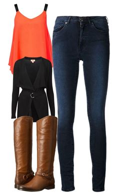 """""""Elena Gilbert Inspired Outfit"""" by mytvdstyle ❤ liked on Polyvore featuring ONLY, Acne Studios, Witchery, Frye, women's clothing, women's fashion, women, female, woman and misses"""