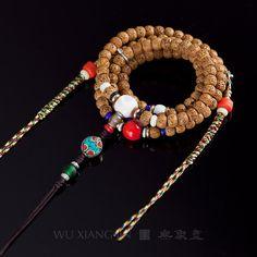 天然尼泊尔藏式无齿小金刚菩提子手串红皮五瓣六瓣男女佛珠手链