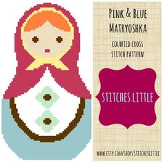 Modern Cross Stitch Pattern - Russian Matryoshka Nesting Doll - PDF - Instant Download on Etsy, $3.00