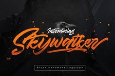 Ad: Skywalker Logotype OFF (UPDATE) by Dirtyline Studio on NEW! UPDATE: - More Caps Alternate with Swash and Stylistic Alternate Feature! Make it easy for made logotype Handlettering Style! Fancy Fonts, Cool Fonts, New Fonts, Design Typography, Typography Fonts, Logo Design, Graphic Design, Typography Inspiration, Texture Web
