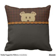 Teddy Tugged In VZS2 Pillow