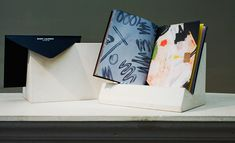 Fashion week S/S 2014 invitations: Saint Laurant x Matt Conners. Hedi Slimane chooses an artist each season for a limited edition booklet