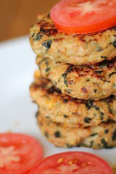 Sweet potato turkey burgers - LAZ notes 1 Freestyle WW point if using fat free turkey. Good flavor and very moist. I might add some chopped jalapeño next time for additional flavor. Sweet Potato Patties, Sweet Potato Burgers, Sweet Potato Recipes, Ground Chicken Burgers, Turkey Burgers, Grilling Recipes, Paleo Recipes, Cooking Recipes, Spinach Burgers