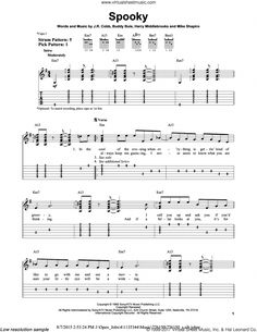 IV - Spooky sheet music for guitar solo (easy tablature) [PDF] Guitar Solo, Guitar Tips, Music Guitar, Playing Guitar, Learning Guitar, Guitar Chords, Spooky Words, Jazz Guitar Lessons, Tablature
