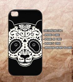 Panda Sugar Skull Iphone 4 Case , Iphone 4s Case , Iphone 5 Case ...
