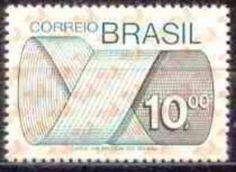 Sello: Stamp (Brasil) (Mark Post and Emblem) Mi:BR 1452,Sn:BR 1261,Yt:BR 1130,RHM:BR 556