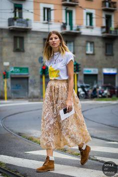 Veronika Heilbrunner Street Style Street Fashion Streetsnaps by STYLEDUMONDE Street Style Fashion Photography