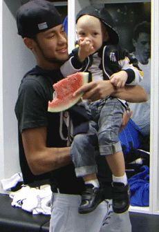 Neymar and Davi ♡