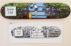 deckaidproject:  Original art by Marc McKee for Jason Dill's 101 board.