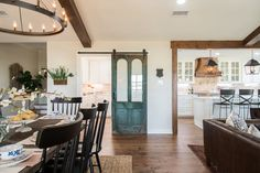 Antique door on barn door slider The post Fixer Upper Favorites- Big Country House appeared first on Architecture Diy. Chip Et Joanna Gaines, Design Studio, House Design, Fixer Upper House, Built In Bunks, Big Country, Magnolia Homes, Magnolia Market, Magnolia Farms