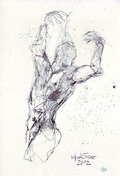Mann Akt Zeichnung von AprilTurnerWunderbar auf Etsy, €80,00