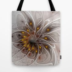 Flair, Abstract Fractal Art Tote Bag - printed Tote Bag with the Design on both Sides.