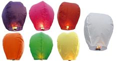 OSEPE Set of 14 Assorted Colors Sky Lanterns - Chinese Flying Wish Lights -- Awesome products selected by Anna Churchill
