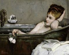 Alfred Stevens, Woman in her Bath, 1867 #alfred #stevens #afredstevens #woman #bath #womaninherbath #bathing #belgium #belgian #belgianartist #belgianpainter #art #artist #artlover #arthistory #painter #painting