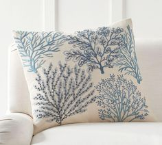 Layered Coral Cushion Cover | Pottery Barn AU