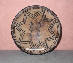"Antique Tesuque Pueblo Pottery Bowl W/8 Pointed Star & Lightening Arrows, 3. 75 "" Pueblo Pottery, Native American Pottery, Pottery Bowls, Arrows, Gems, Personalized Items, Star, Antiques, Ceramic Bowls"