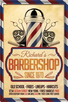 Barber Shop Flyer Template - http://xtremeflyers.com/barber-shop-flyer-template…