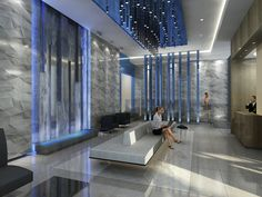 condo lobby wall finished images - Google Search