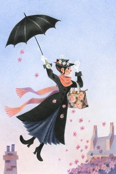 Genevieve Godbout illustration -Mary Poppins