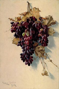 """Still Life with Grapes"", 1888, Edwin Deakin, oil on canvas, 24 x 16 in. (61.0 x 40.7 cm.), Smithsonian American Art Museum, Museum purchase, 1989.102"