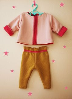 France Duval Stalla - Reversible baby jacket.  6-18 months sizes.