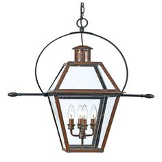 Quoizel Rue De Royal 4-light Aged Copper Outdoor Hanging Lantern (Aged Copper Outdoor Hanging Lantern), Brown