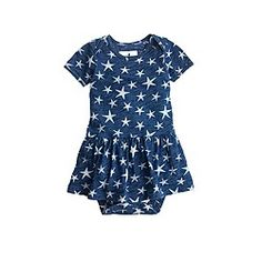 Baby skirted one-piece in stars