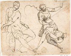 Francesco Allegrini (Italian, 1615/20–after 1679). Seated Female Nude and Dancing Female Figure, 1624–63. The Metropolitan Museum of Art, New York. Gift of Cornelius Vanderbilt, 1880 (80.3.8)