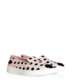 Part of a capsule collection with stylist and editor of LOVE magazine Katie Grand, these polka dot slip-ons from Hogan lend a bold kick to any ensemble #Stylebop
