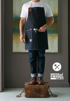 The Grinder apron by Smith and Chisel Barista style apron in raw selvedge denim.  Impeccably styled and super high quality.  Suitable for baristas, cafes. restaurants and foodies.   Buy now at: https://smithandchisel.com.au/store