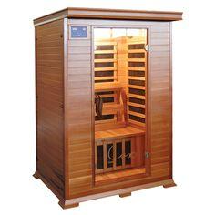 Buy Taavi Deluxe 2 Person Red Cedar Infrared Sauna Online Australia