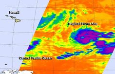 NASA's Aqua satellite passed over Tropical Storm Ana on Monday, Oct. 13 after it formed in the Central Pacific Ocean.