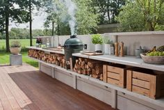 Außenküche im Garten - grandios im Sommer *** Outdoor kitchen idea - awesome in summer