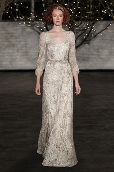 Gold beaded Jenny Packham wedding dress