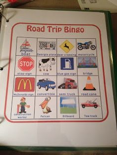 Road Trip Activities To Keep The Kids Entertained..this version of bingo would be fun!