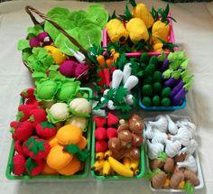 Felt vegetables, kids toys, kitchen toys, fake food, educative toys, pretend play, kitchen set