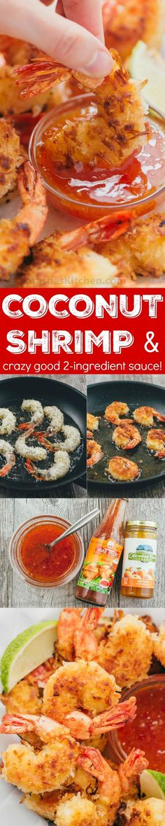 These Coconut shrimp are coated in plenty of coconut for superior crunch and subtle tropical flavor. The 2 ingredient dipping sauce for coconut shrimp will win you over and it's so easy!   http://natashaskitchen.com