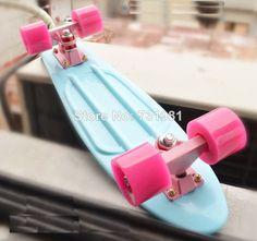 "DIY Pastel Color Penny Style Skateboard 22"" Complete Backpack mini longboard  Boy Girl Retro Cruiser skate fish long board"