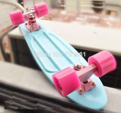 """Penny pastel junta 22"""" penny estilo skate mochila completa longboard mini chico chica retro cruiser skate board de menta azul p"""