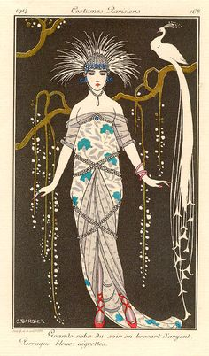 George Barbier 'Costume parisien'