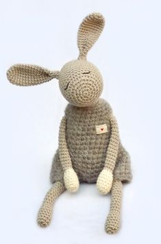 Softies / Little Jack Rabbit by eineIdee on Etsy Crochet Toys Patterns, Amigurumi Patterns, Stuffed Toys Patterns, Amigurumi Doll, Crochet Dolls, Crochet Rabbit, Cute Crochet, Softies, Jack Rabbit