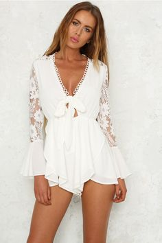 From Time Playsuit White Love this outfit: CollectiveStyles.com ♥ Fashion   Women apparel   Women's Clothes   Dresses   Outfits   Rompers   PlaySuits   Boohoo   Express   Off The Shoulder   #clothes #maxi #fashion #dresses #women #tops #shop