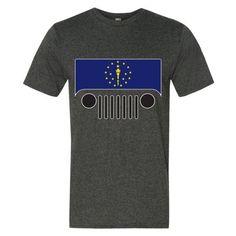 Indiana Flag Jeep Short sleeve t-shirt